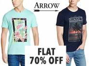 Get Arrow T shirts at Flat 70% Off From Rs. 244 + FREE SHIPPING