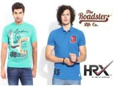 Get Upto 75% Off On Roadster, HRX & More T-shirt From Rs.156