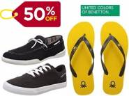 UCB Footwear 50% off From Rs. 189 + FREE SHIPPING