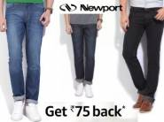 Best Selling:- Newport Slim Jeans starts at Rs. 299 + Rs. 75 Cashback