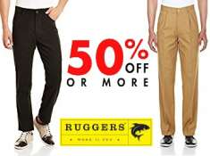 Budget Buys - RUGGERS Trousers Minimum 50% Off From Just Rs.479