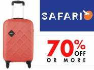 Safari Suitcases at Minimum 72% off + Extra 10% Off + FREE Shipping