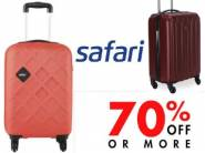 Big Shopping Days: Safari Suitcases at Minimum 70% off + Free Shipping