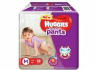 In Stock - Huggies Wonder Medium Size Diapers (72 Count) at Rs. 434