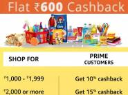 Bumper Savings - Rs. 600 Cashback on Rs. 4000 or More [Grocery & Daily Need]