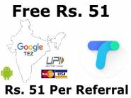 Grab Now:- Flat Rs. 51 Cashback On First Transaction + Rs. 51 Per Refer