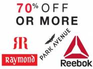 Min. 70% Off on Raymond