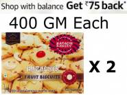 Best Seller :- Karachi Bakery Fruit Biscuits Pack of 2 at Rs.122/Each
