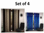Back In Stock:- Home Sizzler Long Door Curtain 9ft (Set of 4) at Rs. 699