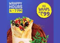 Faasos Happy Hours : All Wraps at Just Rs. 99 + FREE Delivery