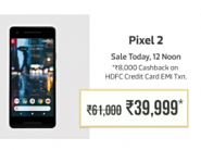 Sale Live at 12 P.M. - Google Pixel 2 at Just Rs. 39999 Or Lower