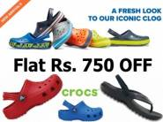 Flat Rs. 750 off:- CROCS New Arrival Range, starts at Rs. 545 + FREE Shipping
