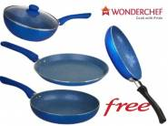 Now IN Stock: Wonderchef Non-Stick Velvet Cookware Set at Rs. 1395