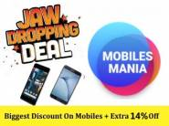 Jaw Dropping Discount on Top Mobiles + Extra Rs. 750 Via HDFC Cards