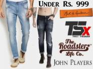 Under Rs. 999:- Top Brand Jeans, starts at Rs. 569 + Flipkart Assured