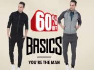Flat 60% Off On Basics Men