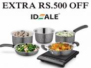 Extra 500 Off : Ideale Stainless Steel Cookware Set of 5 At Rs.620 [Limited Stock]