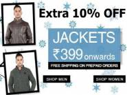 Great Deal:- Winter Jackets starts at Rs. 399 + Extra 10% off + Free Shipping