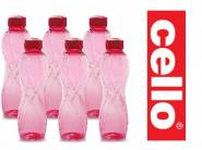 Price Down : Cello Twisty PET Bottle Set, 1 Litre, Set of 6 at Just Rs.100
