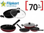Flipkart Smartbuy Cookware at Min. 70% Off + 15% Cashback [ Max. Rs. 150]