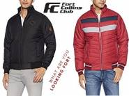 Big Discount:- Qube by Fort Collins Bomber Jacket at Just Rs. 849