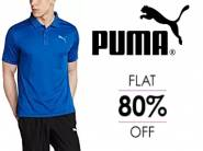 Get Flat 80% OFF On Puma Men