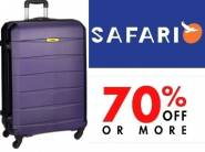 Flat 70% Off : Safari Polycarbonate 77 cms Hard Sided Suitcase