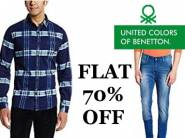 UCB Entire Range at Flat 70% Off + 15% Cashback from just Rs.330