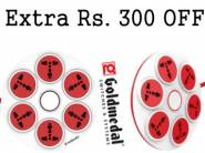Lowest Price:- Goldmedal 360 Red & White Spike Guard at Rs. 442 [Shipping Added]