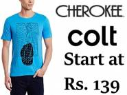 Colt, Cherokee & More Tshirts at Flat 60% OFF From Rs. 139