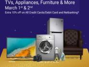 Flipkart Cashless Payday - Big Deals on Appliances + Extra 10% Off [Max. Rs. 750]