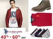 U.S. Polo Association Entire Range at Min. 40% - 60% OFF + FREE Shipping