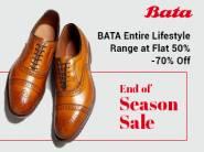 New Stock :- BATA Entire Lifestyle Range at Flat 50% - 70% off + Free Shipping