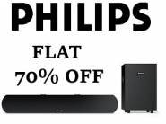 Lowest Online : Philips 2.1 Channel Soundbar Speaker at Rs.2999[70% Off]