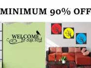 Minimum 90% Off on Wall Stickers starts from Rs.41