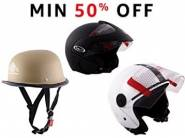 Great Discount:- Top Brand Helmets at Min. 50% OFF + Rs. 75 Cashback