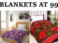 Special Price : IWS Printed Single Blanket at Flat Rs.99