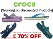 Official off:- CROCS Range at Upto 70% off + Extra 20% off [No Min. Purchase]