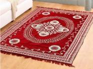 Red Chenille 85 x 55 Inch Floral Carpet by Valtellina at Extra Rs. 300 OFF
