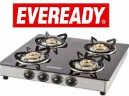 Eveready Brass, Glass, Stainless Steel Stove 4 Burner at Rs.2999 (Selected Pincode)