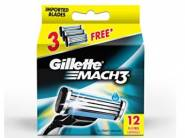 Lowest Price:- Gillette Mach 3 Manual Blades 12s pack at Rs. 865