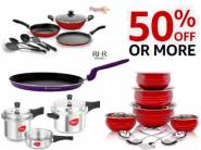 Best Seller:- Cookware Range at Minimum 50% OFF + Free Shipping [Top Brands]