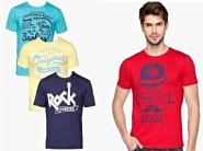 Price Down - LIFE By Shoppersstop T-shirt - Set of 3 at Rs. 270