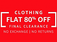 Amazon Fashion : Final Clearance Sale at Upto 80% OFF