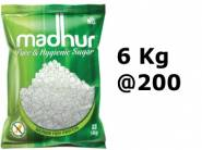 Mega Saver - Madhur Pure Sugar, 6kg Bag at Lowest Ever [ Rs. 50 Cashback]