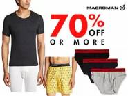 Rs. 75 Cashback - Chromozome & Macroman Innerwear at 70% Off