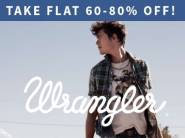 Best Seller - WRANGLER Entire Range at Flat 60% - 80% off + Free Shipping