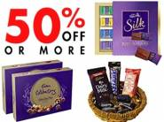 Minimum 50% Off on Cadbury + Rs.50 Cashback on Order of Rs.250 & Above