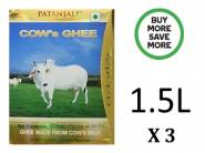 Bumper Offer : Patanjali Cows Ghee 1.5L at just Rs.223 /Each