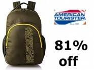 Biggest Discount:- American Tourister 27 Ltrs Olive Backpack at Rs. 523